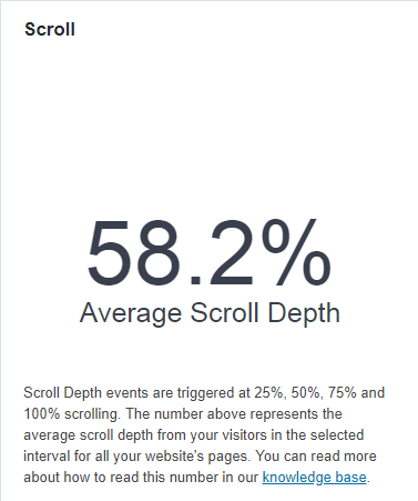Scroll depth tracking