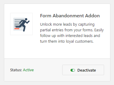 WPForms form abandonment Addon